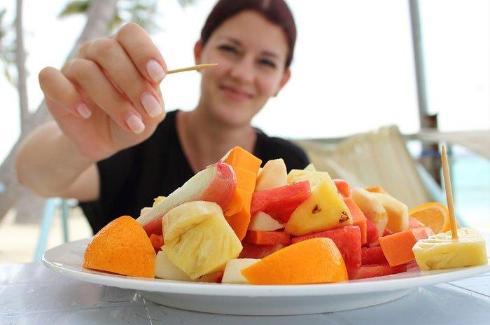 Fruta cortada para llevar