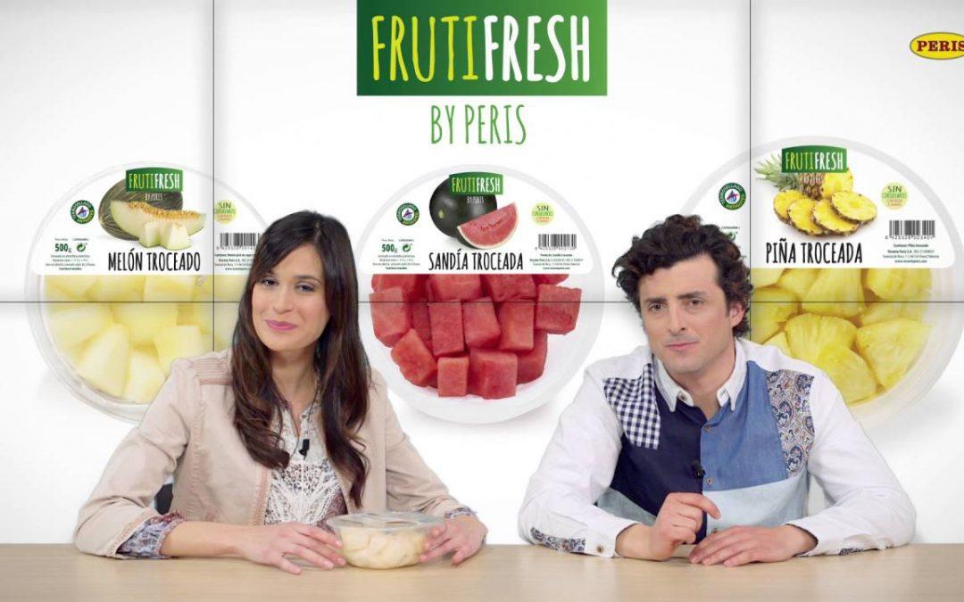 Venta de fruta pelada y cortada