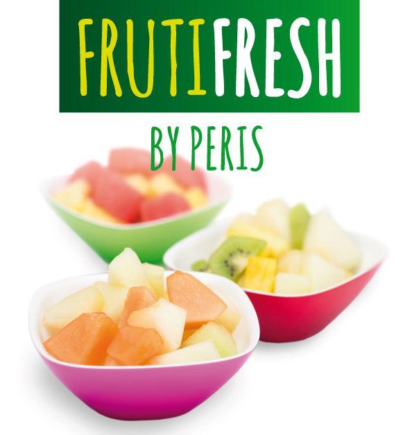Fruta cortada fresca envasada